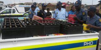 Festive Season operation underway closing illegal liquor outlets. Photo: SAPS