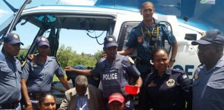 Chopper and K9 unit assist in finding missing man (98). Photo: SAPS