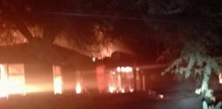 Mine manager's house torched, Burgersfort. Photo: SAPS