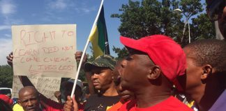 Protest actions at schools, FF Plus appeals to Emfuleni Mayor.Photo: Die Vryburger