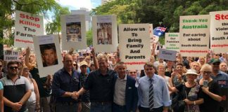 March against farm attacks, murders in South Africa, Brisbane. Photo: Front Nasional SA