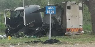 Officials seriously injured, cash in transit robbery, Hoedspruit. Photo: SAPS