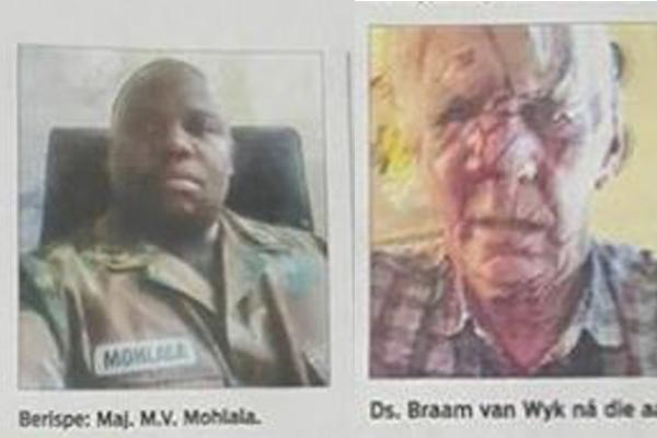 Horrific racist hatred statements by SANDF major. Photo: Front Nasionaal SA