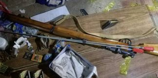Firearms seized, two men arrested, Worcester. Photo: SAPS