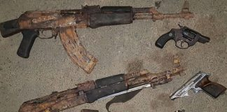 Police recover assortment of firearms, 3 arrested, Kranskop. Photo: SAPS