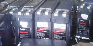 Twenty 'cell phone tower' batteries recovered, Campbell. Photo: SAPS