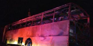 Mine workers bus bombed, six burn to death, Burgersfort. Photo: SAPS