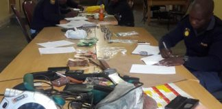 Drugs and stolen goods recovered, 4 arrested, Kimberley. Photo: SAPS