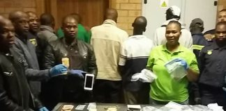 Six armed robbers arrested, supermarket robbery, Galeshewe. Photo: SAPS