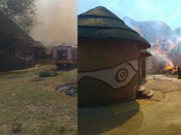 Seven 'Mutumo Trading Post' thatch houses burnt down. Photo: SAPS