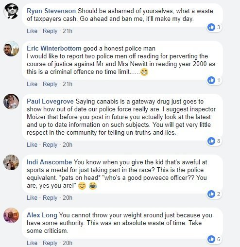 Facebook users ridicule West Yorkshire Police © Facebook 2018