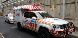 Factory workers hand crushed in machine, Durban. Photo: Netcare 911