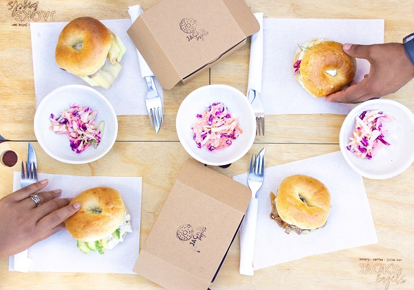 First-time exhibitors Jack's Bagels will have a wide variety of delicious bagels on offer at the SPAR Goodnight Market in the Tramways building in Port Elizabeth on Thursday. Photo: Chow PE