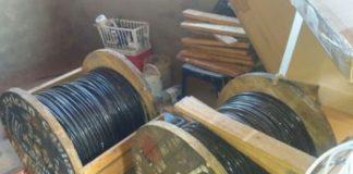 Arrests as 8 rolls of stolen copper cables recovered, Louis Trichardt. Photo: SAPS