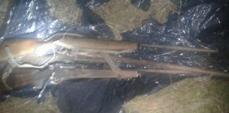 Farm murder, stolen hunting rifles recovered, 2 arrested. Photo: SAPS