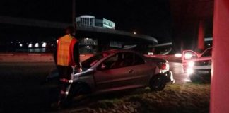 Mother and child lucky to escape injury after vehicle rollover in PE