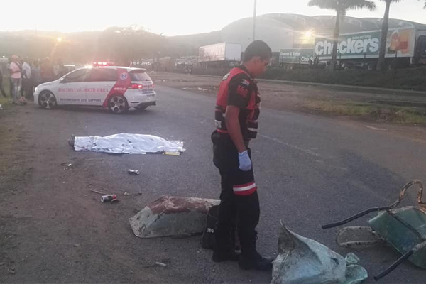 Pedestrian killed in hit and run, Canelands. Photo: RUSA