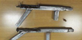 Two homemade 'zip guns' recovered, Strandfontein. Photo: SAPS