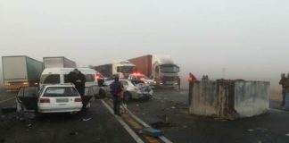 Multi vehicle collision on N3 between Warden and Harrismith