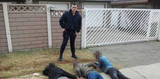 Private security company arrests housebreakers, Brackendowns. Photo: Fox Security