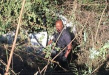 Verulam hijackers lose control of vehicle, crash down embankment. Photo: RUSA