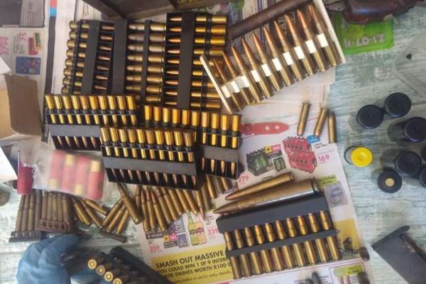 Brackenfell raid uncovers large ammunition stash. Photo: SAPS