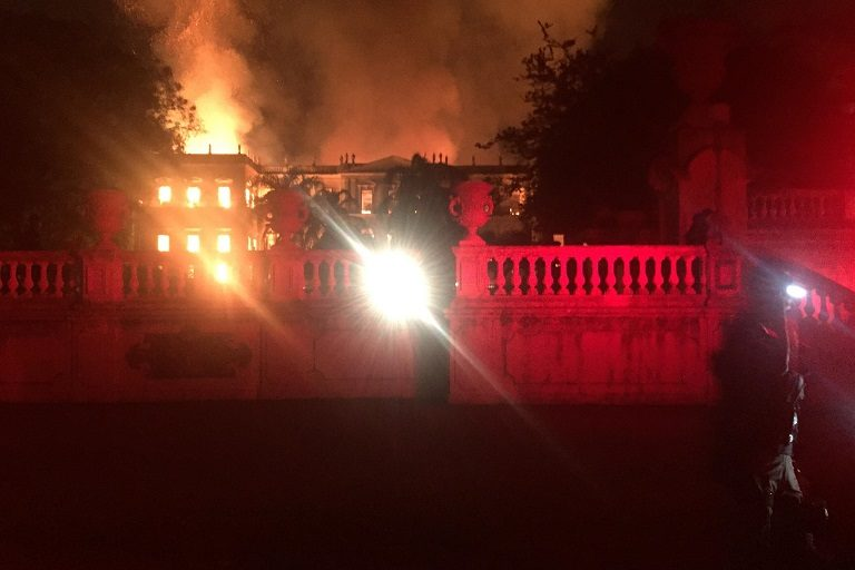 The September 2, 2018 fire at the National Museum in Brazil. Photo by Felipe Milanez.