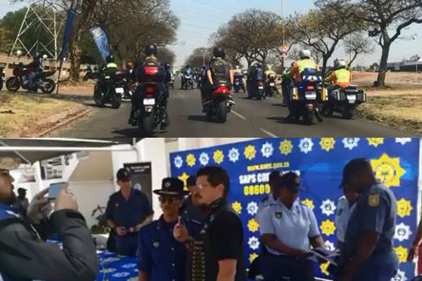 Rural safety campaign: Bikers ride against farm murders. Photo: SAPS