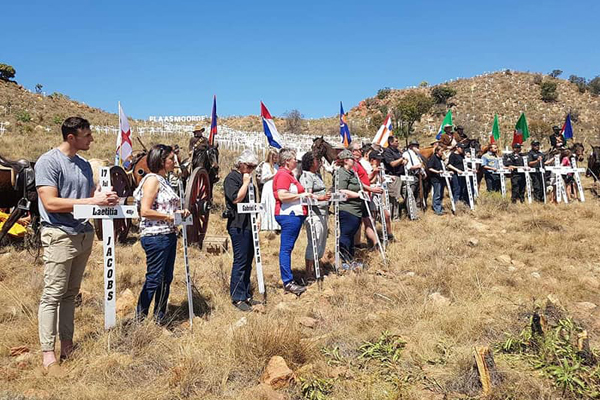 Farm murders: 50 new crosses laid in memory. Photo: FNSA