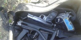 3 pistols and an R5 rifle recovered, two arrested, Port Alfred cluster. Photo: SAPS