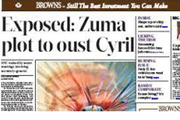 Zuma article: Journalist receives death threats. Photo: Die Vryburger