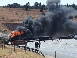 Security personnel on assault charge, Belfast Court attacked, N4 blocked. Photo: SAPS