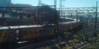 Passenger trains collide, 100 injured, Selby. Photo: Die Vryburger