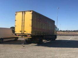 87 illegal immigrants discovered in truck, Westernburg. Photo: SAPS