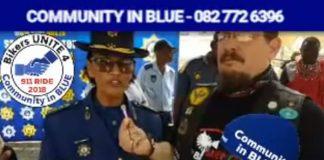 911 bikers and SAPS to raise awareness on crime in SA. Photo: SAPS