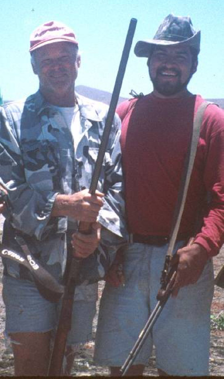 Bill Wood (left) & Miguel Angel Hermosillo-Bueno, Isla San Benito, 1998.