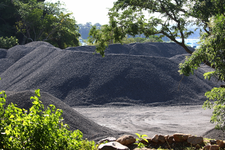 Materials destined for the construction of the Lamu Port-South Sudan-Ethiopia Transport Corridor (a.k.a. LAPPSET) were sourced close to the Kaya Kauma forest. Image by Sophie Mbugua for Mongabay.
