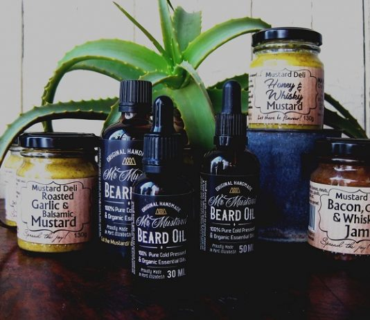 TOPS at SPAR Goodnight Market visitors can look forward to an array of mustard flavours and beard oil products from the Mustard Deli and Mr Mustard Beard Oil at the Tramways Building in Port Elizabeth on Thursday. Photo: Stephanie Liebetrau Vieira Da Cruz