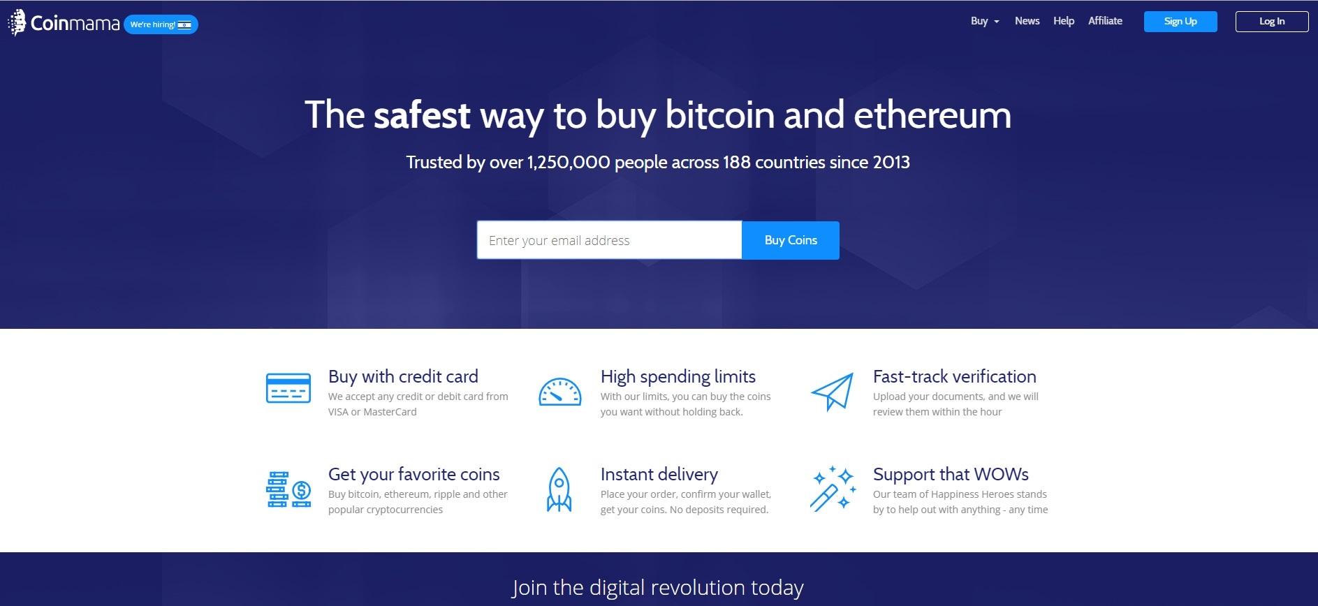 Resultado de imagen de coinmama buy bitcoin