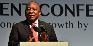 South African president Cyril Ramaphosa addresses a recent investment summit. Flickr.com/GovernmentZA