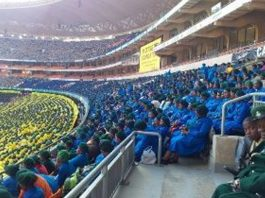 Approximately 180k people gather to pray against corruption and violence. Photo: Die Vryburger