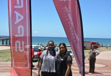 Nelson Mandela Bay director of beaches, resorts and events management Kithi Ngesi, left, and SPAR EC sponsorships assistant Debadene Baatjies are ready for Summer Nathi, the annual holiday festival which kicks off on Sunday. Picture: Full Stop Communications