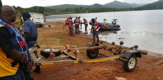 Search for boy (11) allegedly grabbed by a crocodile, Damani dam. Photo: SAPS