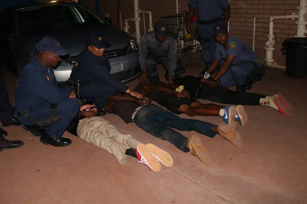 Four Mothibistad hijackers arrested at roadblock. Photo: SAPS