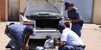 Illegal immigrant arrested with stolen goods, Kuruman. Photo: SAPS