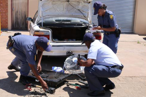 Illegal immigrant arrested with stolen goods, Kuruman. Photo: SAPS