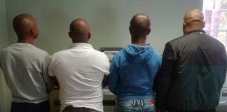 Four ATM robbers nabbed at Hanover, NC. Photo: SAPS