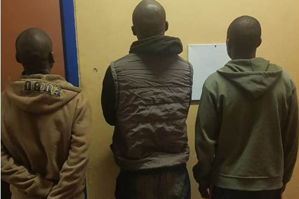 Business burglary foiled, three arrested, Kimberley. Photo: SAPS