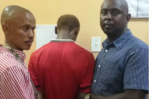 Wanted housebreaking suspect finally arrested, Kimberley. Photo: SAPS