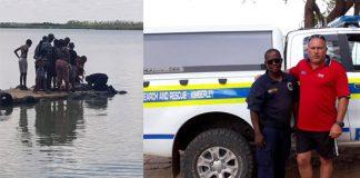 SAPS divers resuscitate drowned man, Warrenton. Photo: SAPS